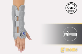 Otwarta anatomiczna orteza ręki i przedramienia, 4medic