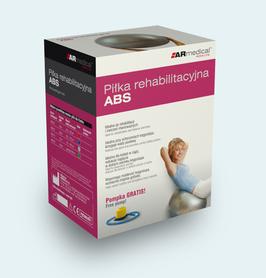 Piłka rehabilitacyjna do ćwiczeń Profesjonalna ABS 65 cm