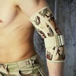 Anatomiczna orteza stawu łokciowego z fiszbinami ortopedycznymi, militarna