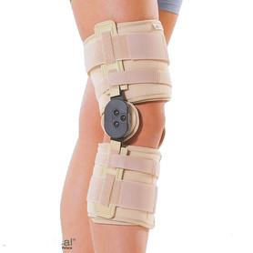 Neoprenowo-tkaninowa orteza stawu kolanowego z zegarami
