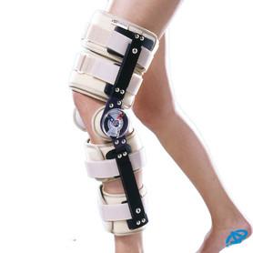 Orteza stawu kolanowego z zegarami, regulowana długość
