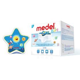 Medel Baby Star to innowacja wśród inhalatorów, został stworzony w trosce o dobre samopoczucie najmniejszych pacjentów. Swoim wyglądem urządzenie przypomina gwiazdkę, a kolorowe rysunki na jego obudowie przedstawiają uśmiechnięte planety. Medel Baby Star