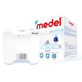 Inhalator Medel Easy posiada kompaktowy design, ultracichy kompresor oraz  zestaw akcesoriów niezbędnych do przeprowadzenia inhalacji. Nebulizator Medel Jet Basic (Evo) dołączany jest na zewnątrz obudowy inhalatora, dzięki czemu unika się konieczności otw