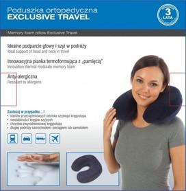 """Turystyczna poduszka ortopedyczna """"EXCLUSIVE TRAVEL"""""""