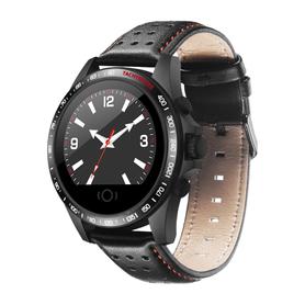 Watchmark -Smartwatch WK23 Ciśnienie Skórzany Elegancki Modny Kroki Biznes ciśnieniomierz puls pulsometr męski