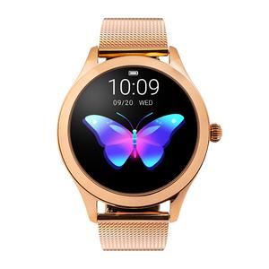 Przepiękny Złoty Smartwatch Damski Sport Fittness Fashion ciśnienie puls ciśnieniomierz pulsometr zdjęcia sport zdrowie kalorie dystans
