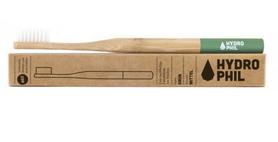 Naturalna, wegańska szczoteczka do zębów z biodegradowalnego bambusa, WŁOSIE ŚREDNIE, NIEBIESKA, Naturalna szczoteczka do zębów z bambusa HYDROPHIL,
